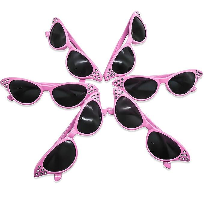 Occhiali da Sole Anni '50 in Rosa con Scuri Lenti 1fPZ1jjb