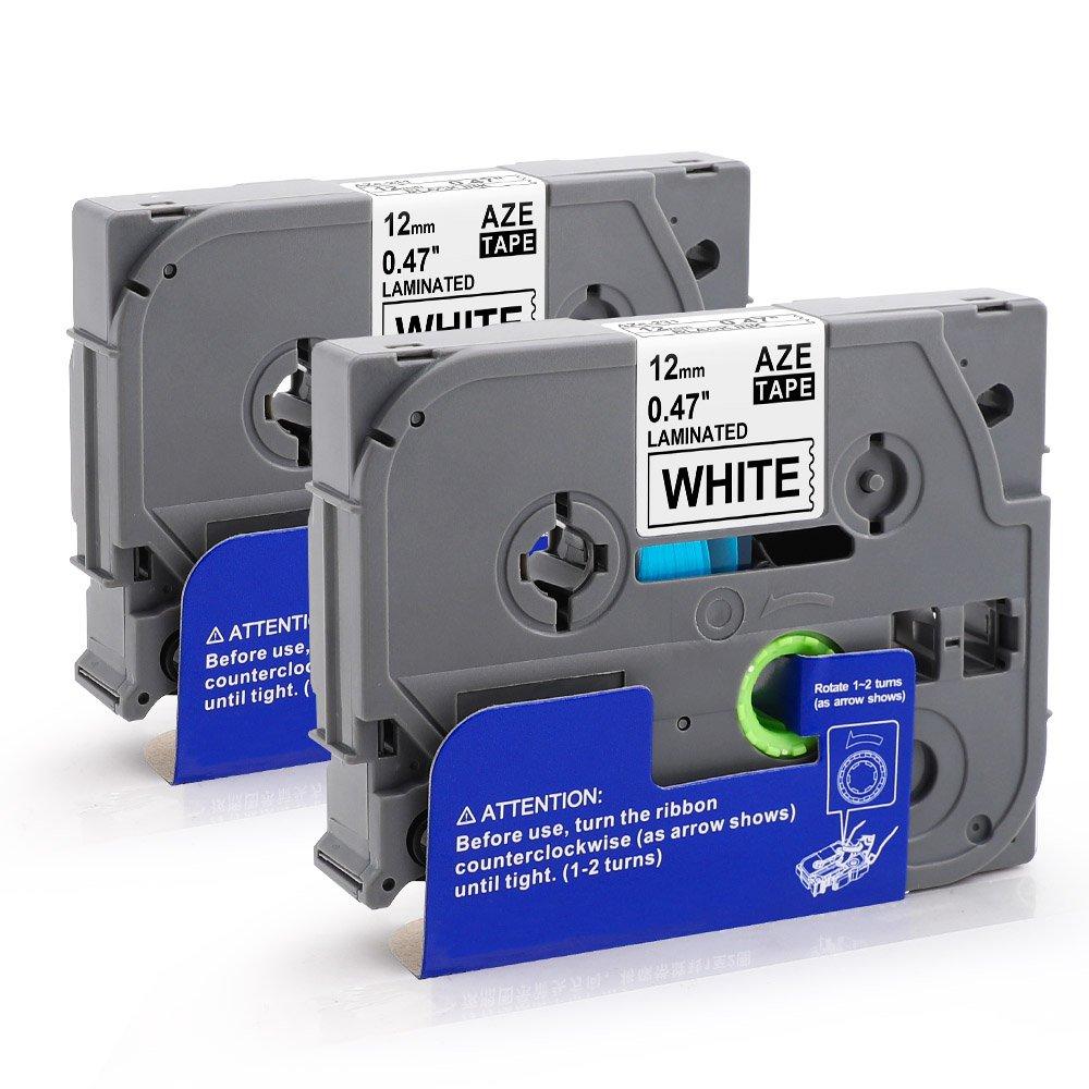 Nastro Compatible per Brother TZe Tape TZe-221, Cartucce per Brother PT-H100LB PT-H100R PT-1005 PT-1010 PT-1830VP PT-2030 Nero su Bianco 9mm x 8m, 2-pack Oozmas Printing