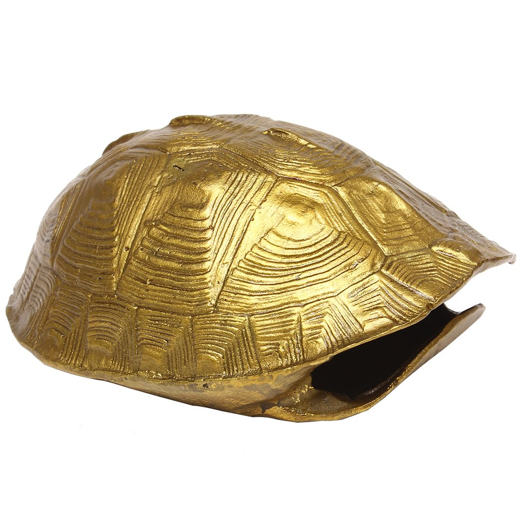 Chinese Feng Shui Handmade Brass Turtle Shell Statue Collectible Figurines Home Decor (L) BS082