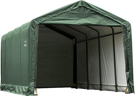 Shelter Logic Foliengarage Garage 33 67 M Grun 370 X 910 X 340 Cm Bxtxh Autozelt Wohnmobilunterstand Mit Schneelast 209 M Amazon De Sport Freizeit