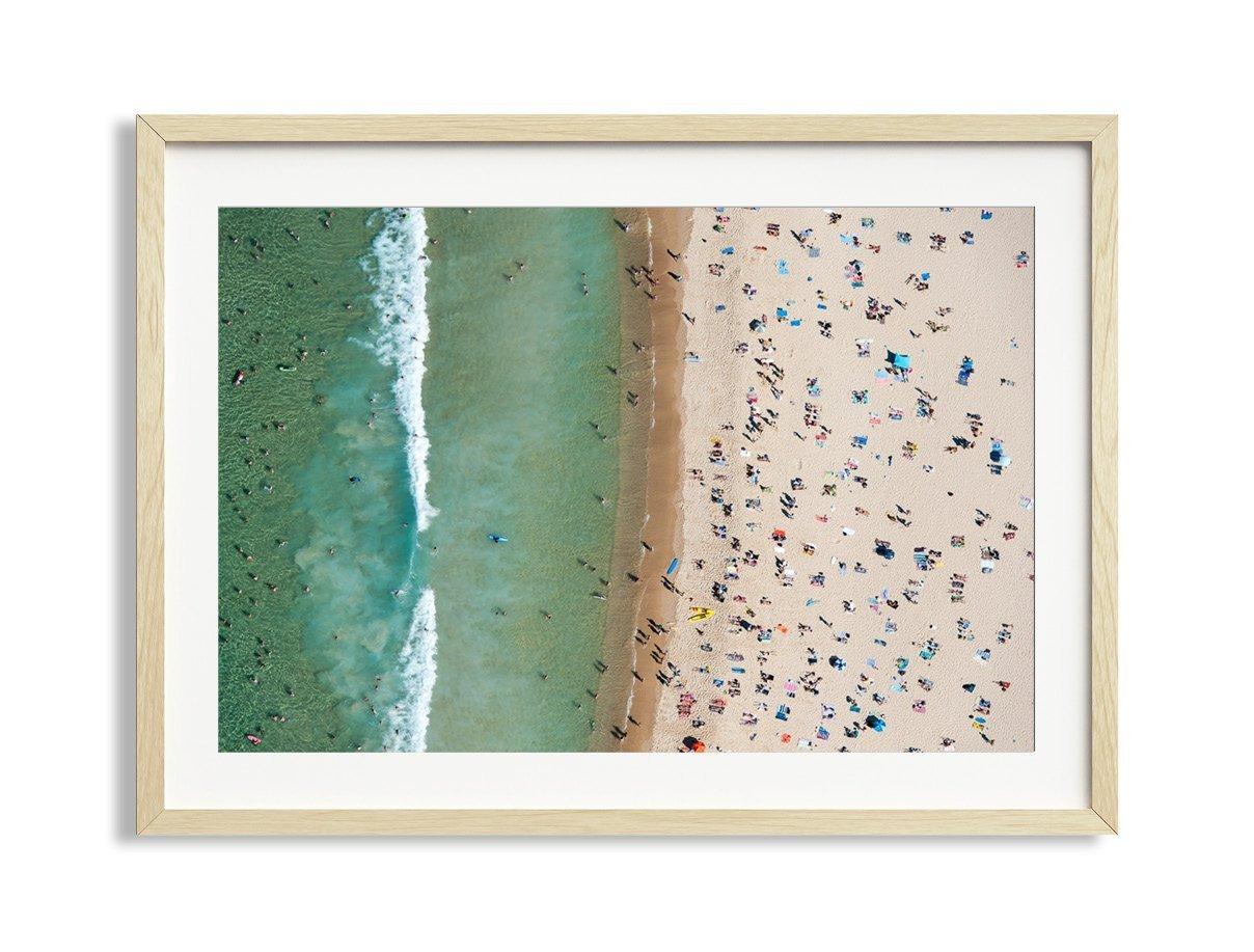 30x42'' Framed Extra Large ''Bondi Stripe'' Bondi Beach Australia Aerial Beach Photography Print