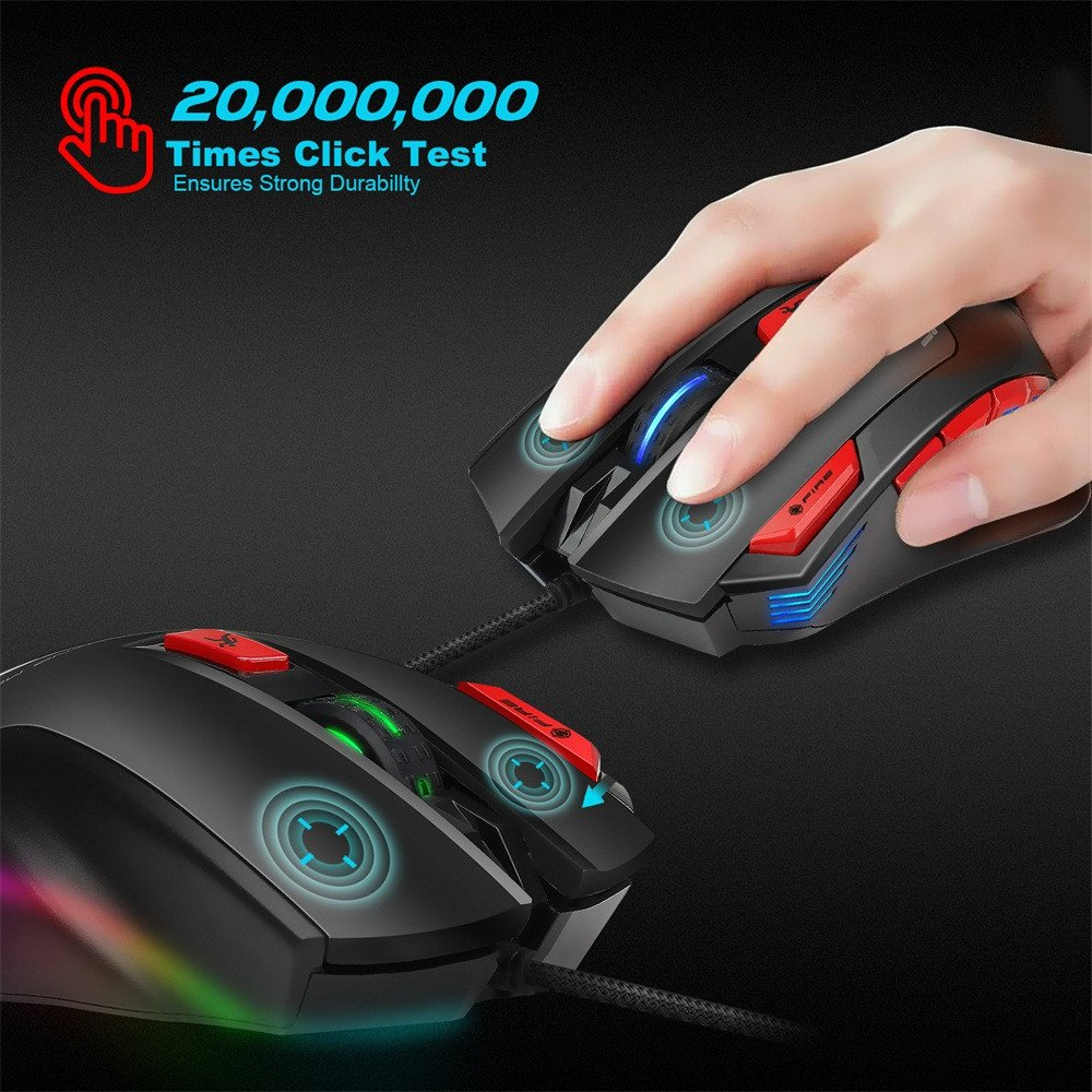 Likeside Mice Hxsj S800 Usb Wired 6000dpi 5buttons Toshiba 1600 Xp Wiring Diagram Optical Gaming Mouse Led Backlight For Pc Computers Accessories
