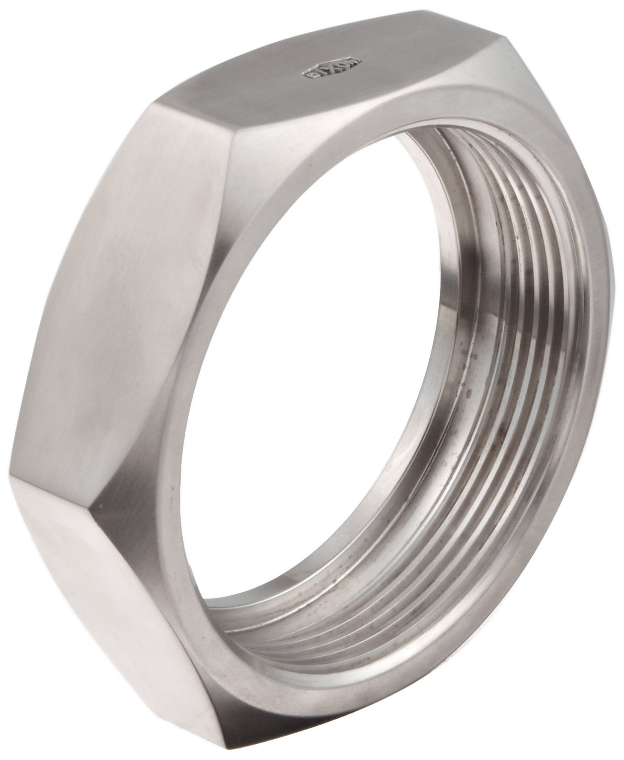 Dixon 13H-G400 Stainless Steel 304 Sanitary Fitting, Bevel Seat Hex Union Nut, 4'' Tube OD