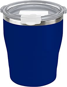 Tahoe Trails 10 oz Stainless Steel Tumbler Vacuum Insulated Double Wall Travel Cup With Lid, Spectrum Blue