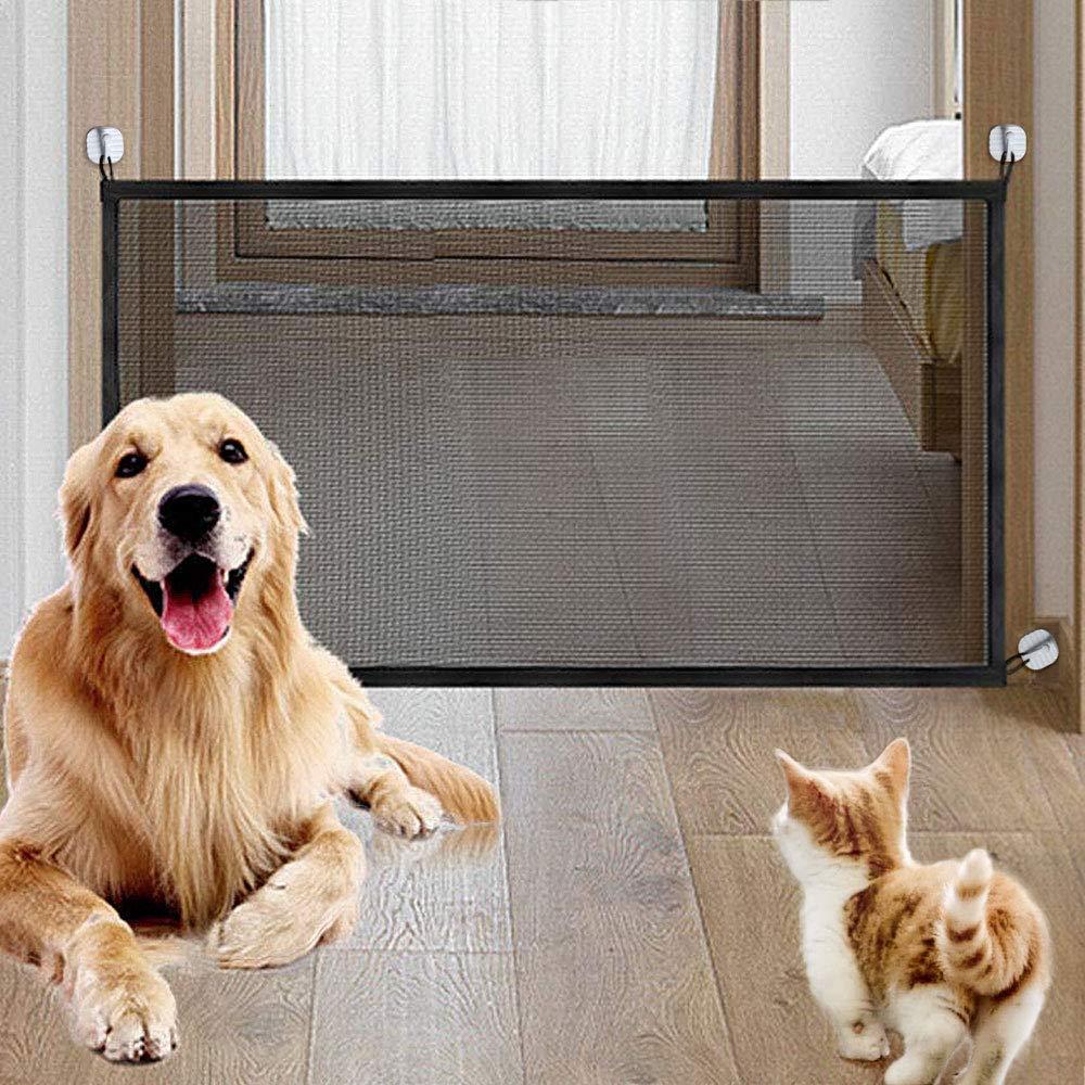 laamei Barrera de Seguridad Extensible Valla Seguridad Infantil de Madera Natural Plegable Rejilla de Separaci/ón para Mascotas Perros Beb/é Ni/ño para Instalar en Escaleras Puertas 48cm, Madera