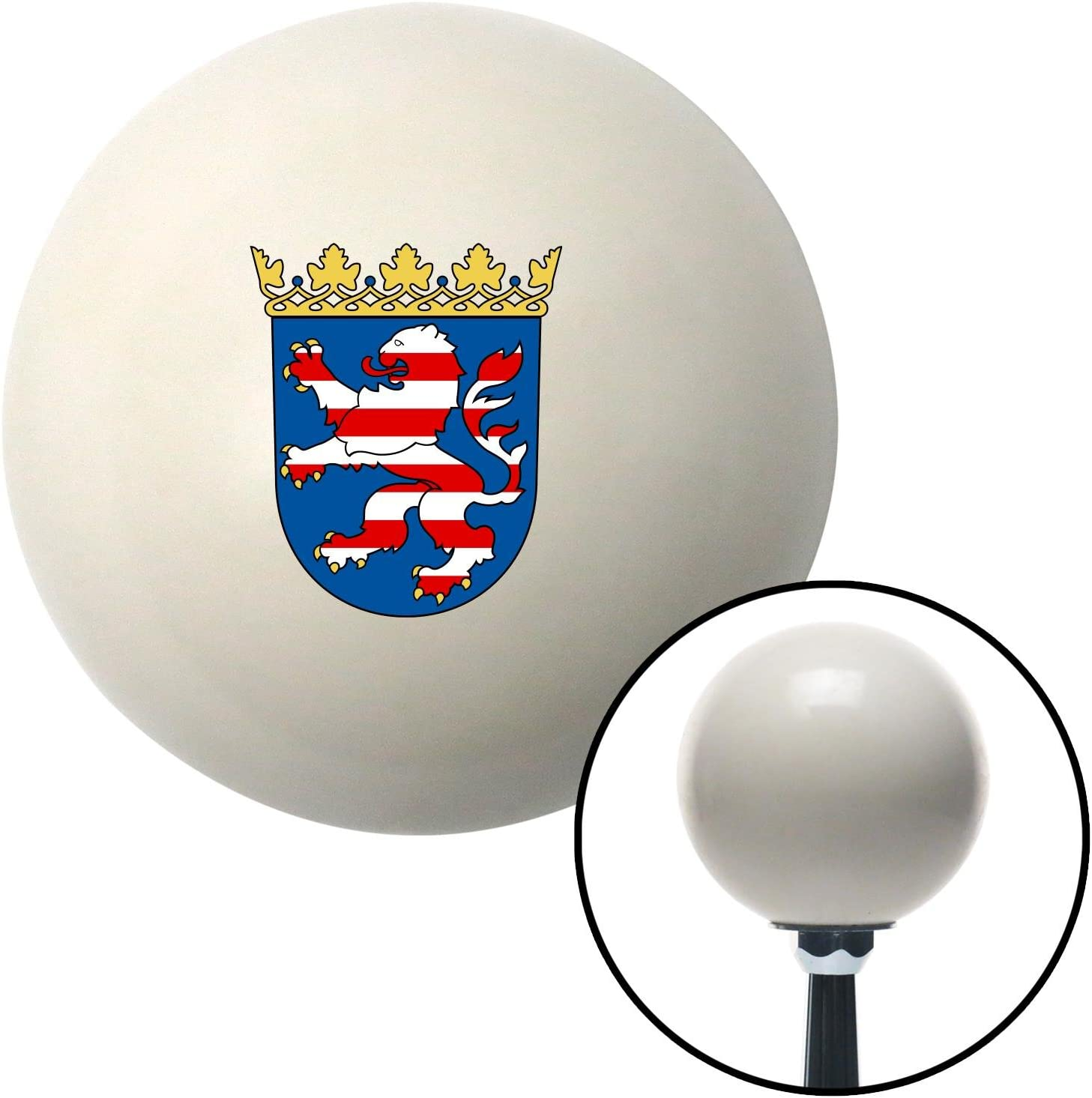 Hesse Coat of Arms American Shifter 76113 Ivory Shift Knob with M16 x 1.5 Insert