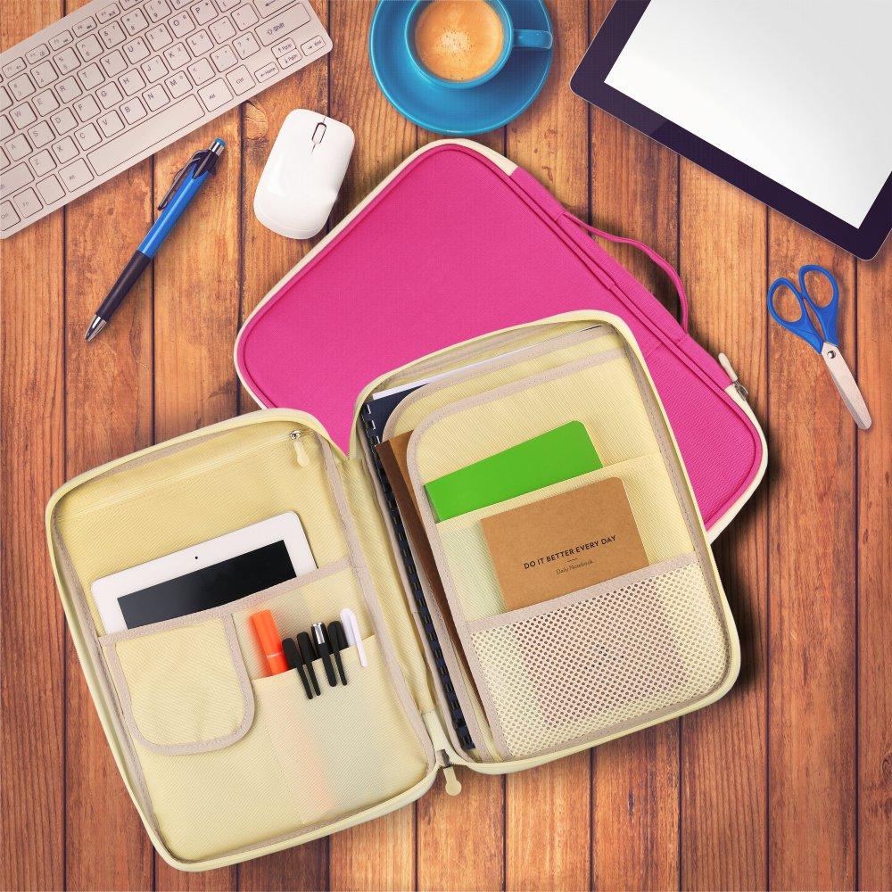wasserdicht Rei/ßverschluss Organizer von YOUSHARES Student und Business Padfolio//Portfolio Schwarz Multifunktions-Tasche mit 8 Taschen f/ür A4//A5 Papier Gr/ö/ße Dokumente und Notbooks