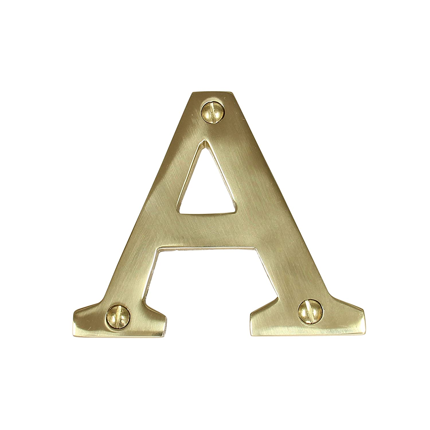 RCH Hardware Solid Brass 3' Tall House Letter B, Polished Brass Shiny Gold Matching Screws Included RCH Supply Company 2350B-PB075