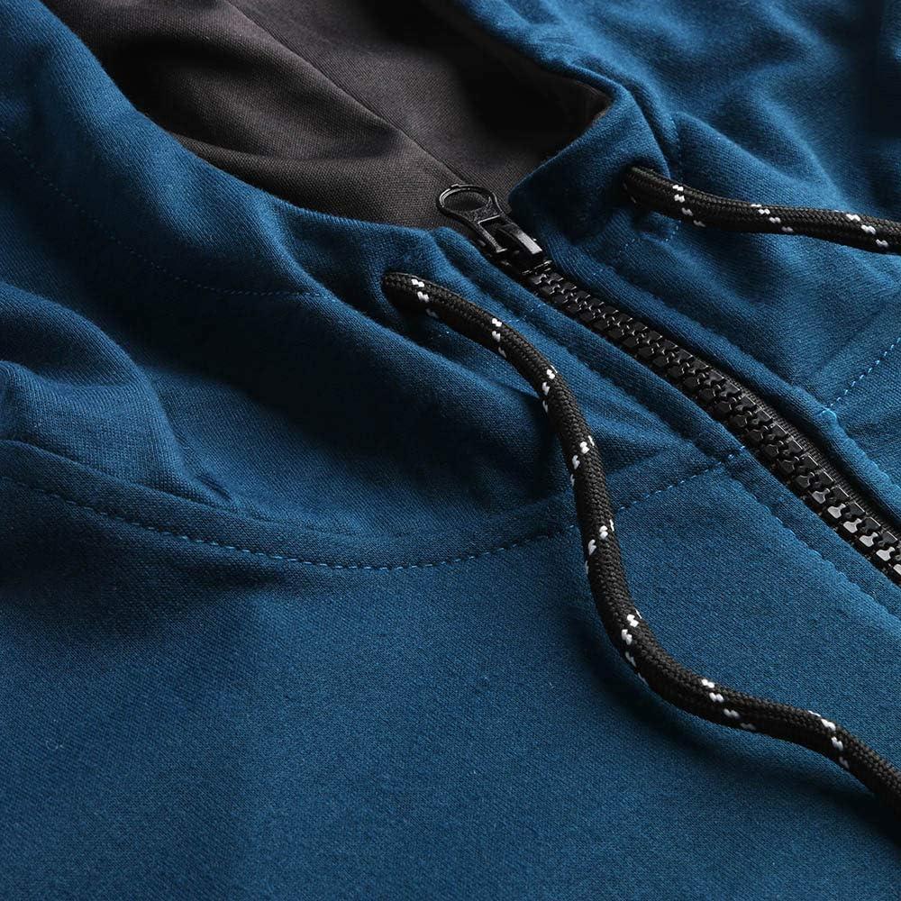 Mens Autumn Patchwork Zipper Sweatshirt Top Pants Sets Sports Suit Tracksuit Ridkodg T Shirts for Men