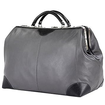LIVAN® - sac de voyage diligence - 60 X 36 X 25cm - Porté à main ou avant-bras - 100% cuir de vachette neuf (MARRON CLAIR) ZFGtQNK