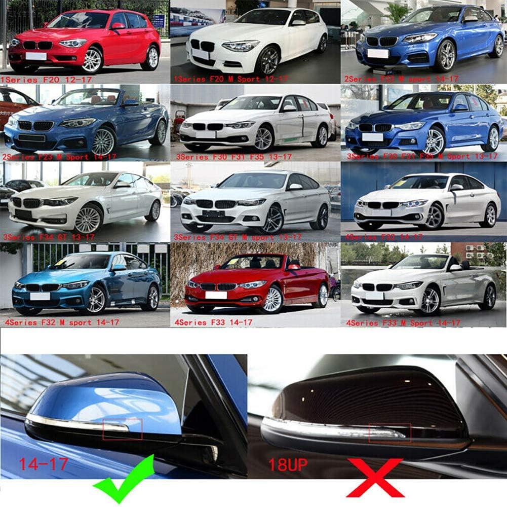 kaakaeu 1 Paio di Cappucci di Copertura per specchietti Esterni in Fibra di Carbonio per BM-W F20 F21 F22 F30 F32 F36 1-4 Series Auto Auto