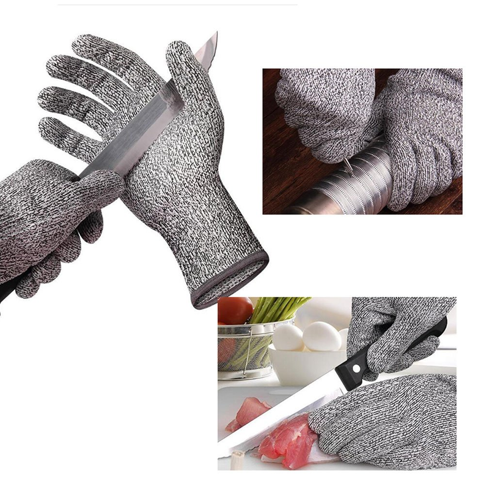 Zinnor Cut Resistant Gloves, Nitrile Gloves Explosion-proof Stab-resistant Anti-cut gloves for Work, Kitchen