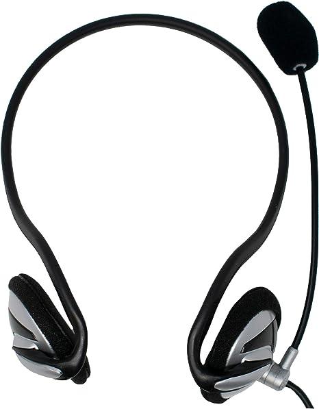 Cuffie STEREO leggero Skype con Microfono 3.5mm Over-head per PC Laptop