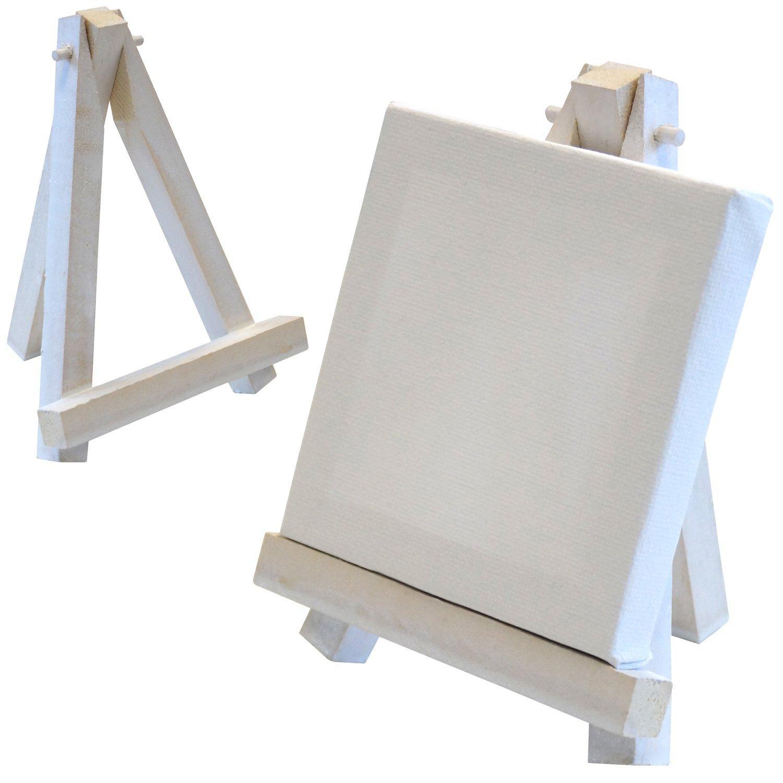 Artina - Lot DE 10 Mini Chevalets de Table 9x11cm + Toiles 8x8cm - Idéal pour Mariage, Banquet, Marque Place, Présentoir