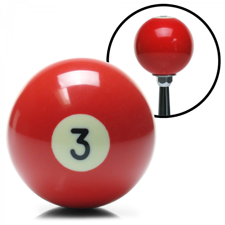 American Shifter 96048 Solid Red 3 Ball Billiard Pool Shift Knob