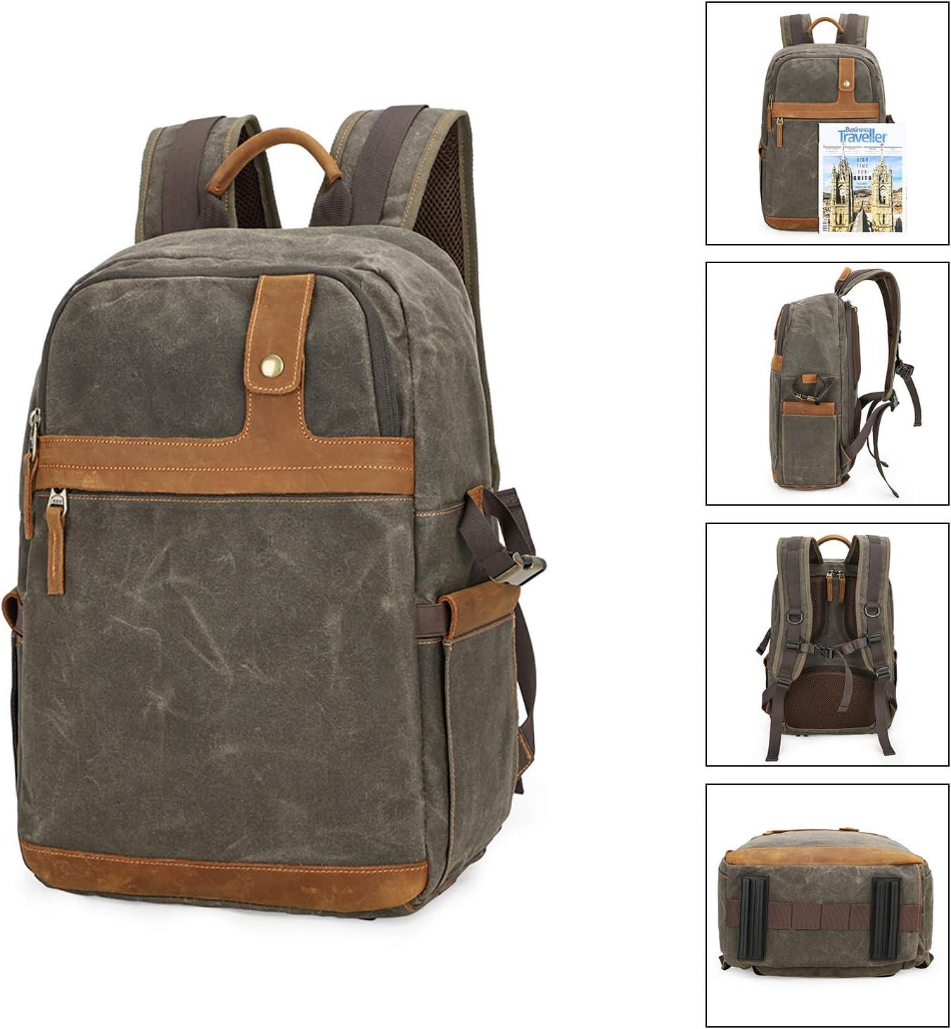 Outdoor Camera//Travel Backpack DSLR Camera Case Camera//Lens//Tripod//Laptop Bag Pitch Green