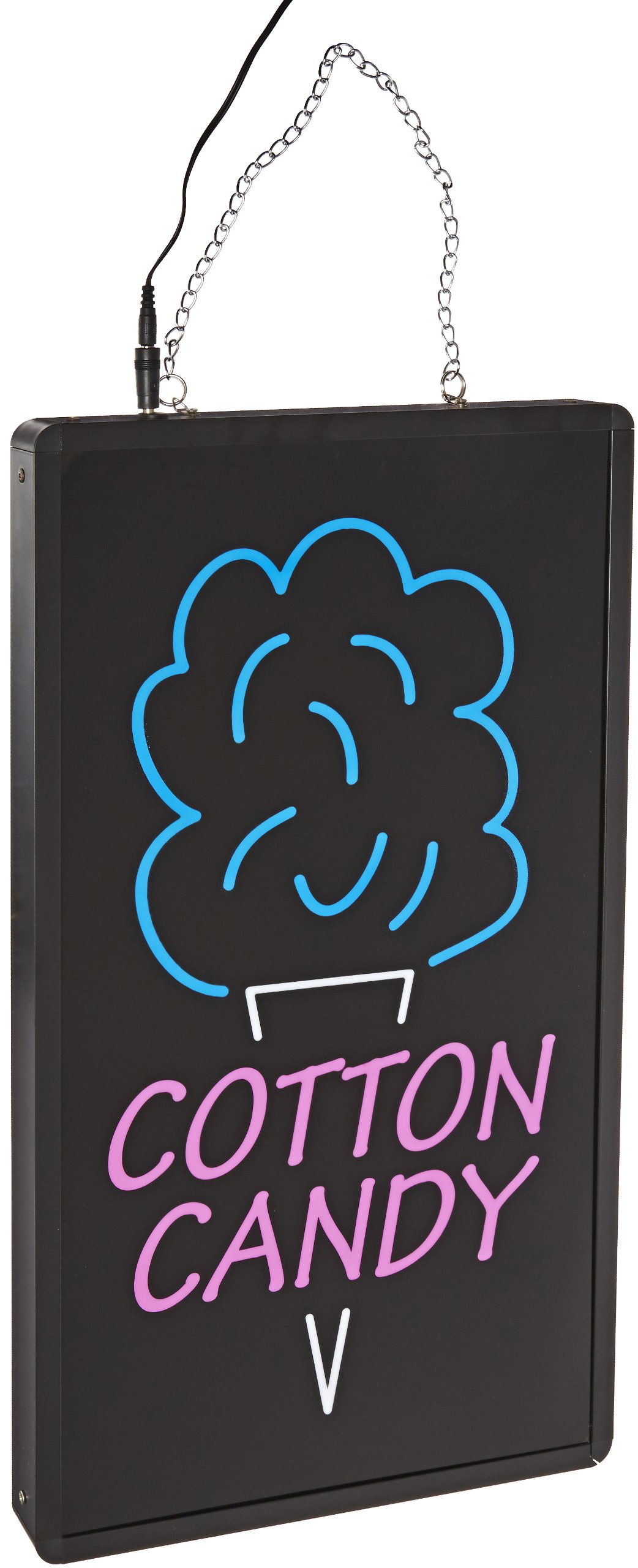 Benchmark 92005 Ultra-Bright Sign, Cotton Candy, 12'' Length x 21'' Width x 1-1/4'' Height