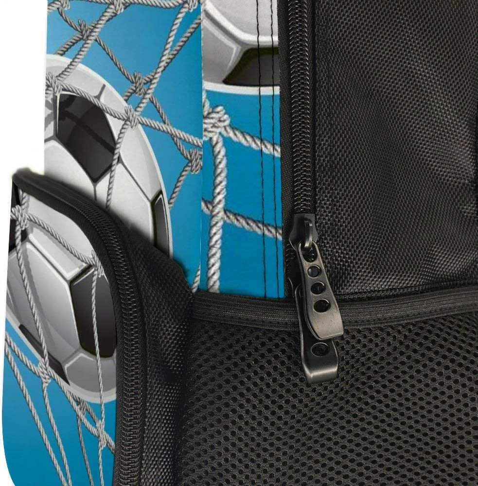 JasonGGG Goal Football in Net Entertainment Playing for Winning Active LifestyleTeens School Bookbags Travel Laptop Daypack Bag Lightweight Water Resistant Schoolbag for Boys Girls