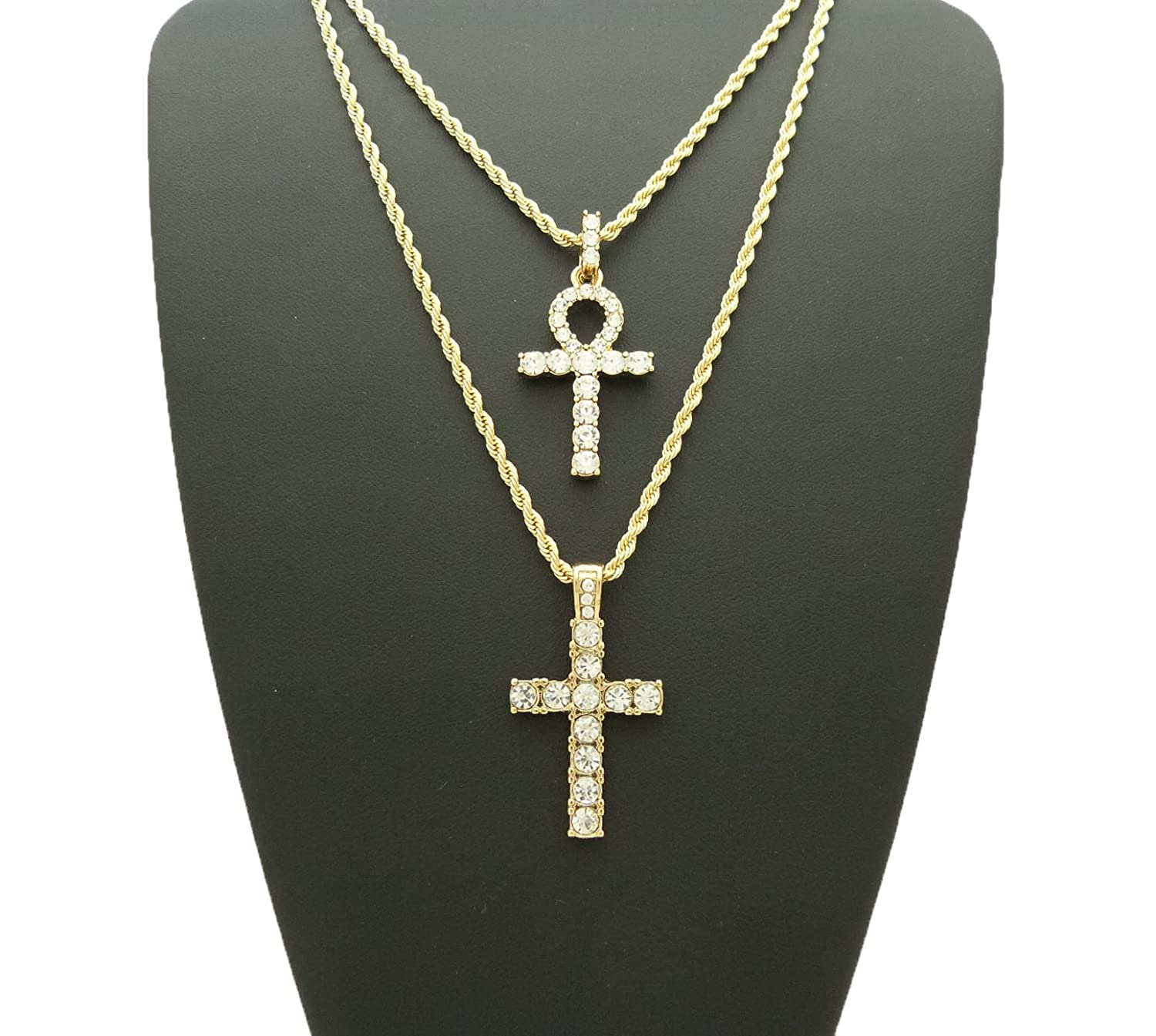 w choker micro women sterling ladies chains ankh chain silver cross tennis diamond