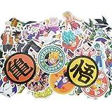Dragon Ball Z Laptop Stickers 100Pcs Anime Waterproof Stickers for Skateboard Luggage Helmet Guitar