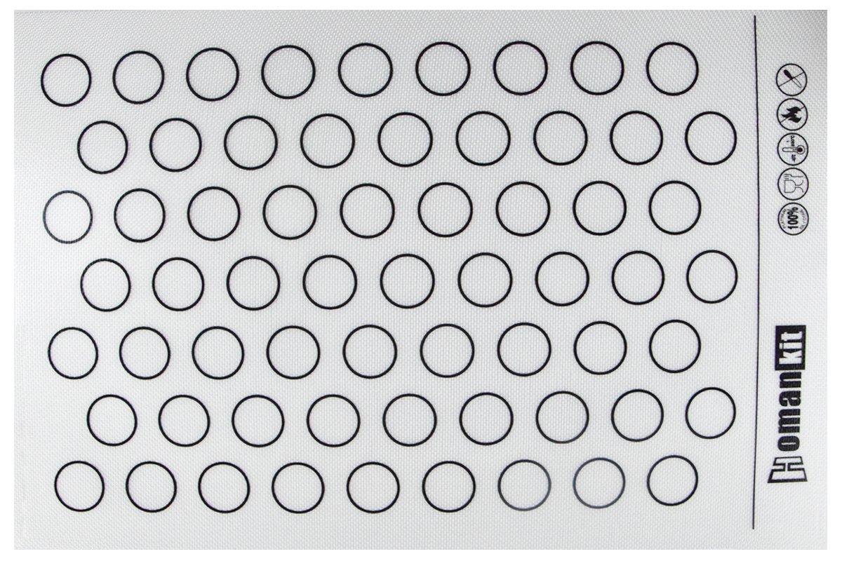 Homankit Silicone Baking Mat for Macarons - Full Sheet Pan 15-3/4'' x 23-5/8'' - Reusable Non-stick Surface by Homankit