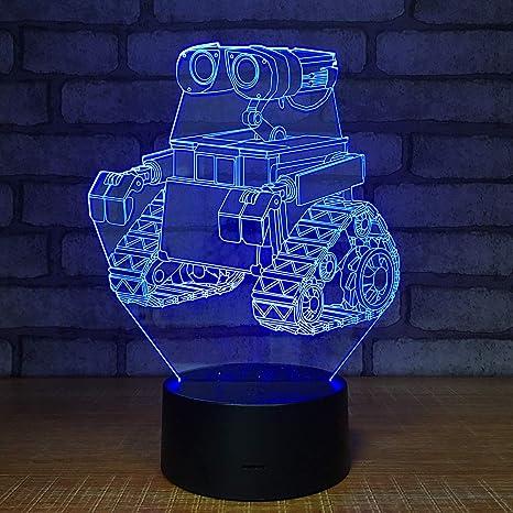 orangeww Lámpara de ilusión visual 3d / lámpara de decoración de ...