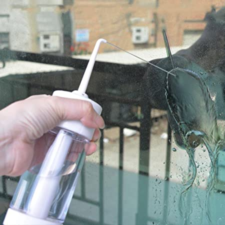Aolvo - Disipador de agua inalámbrico, limpiador de dientes dentales de alta calidad, manual de mano para agua, riego oral, riego portátil, para viaje, ...