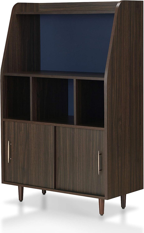ioHOMES Van Buren Contemporary Wood Buffet with 2-Sliding Door Cabinet, Wenge