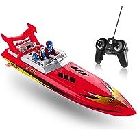 Top Race Fernbedienung Wasser-Schnellboot, RC-Boot für Kinder, perfektes Spielzeug für Pools und Seen 8 Meilen pro Stunde (rot)