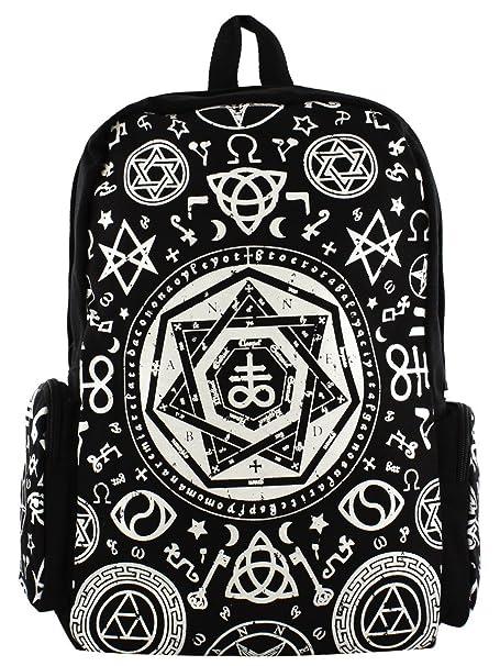 Banned Pentagramm Rucksack schwarz