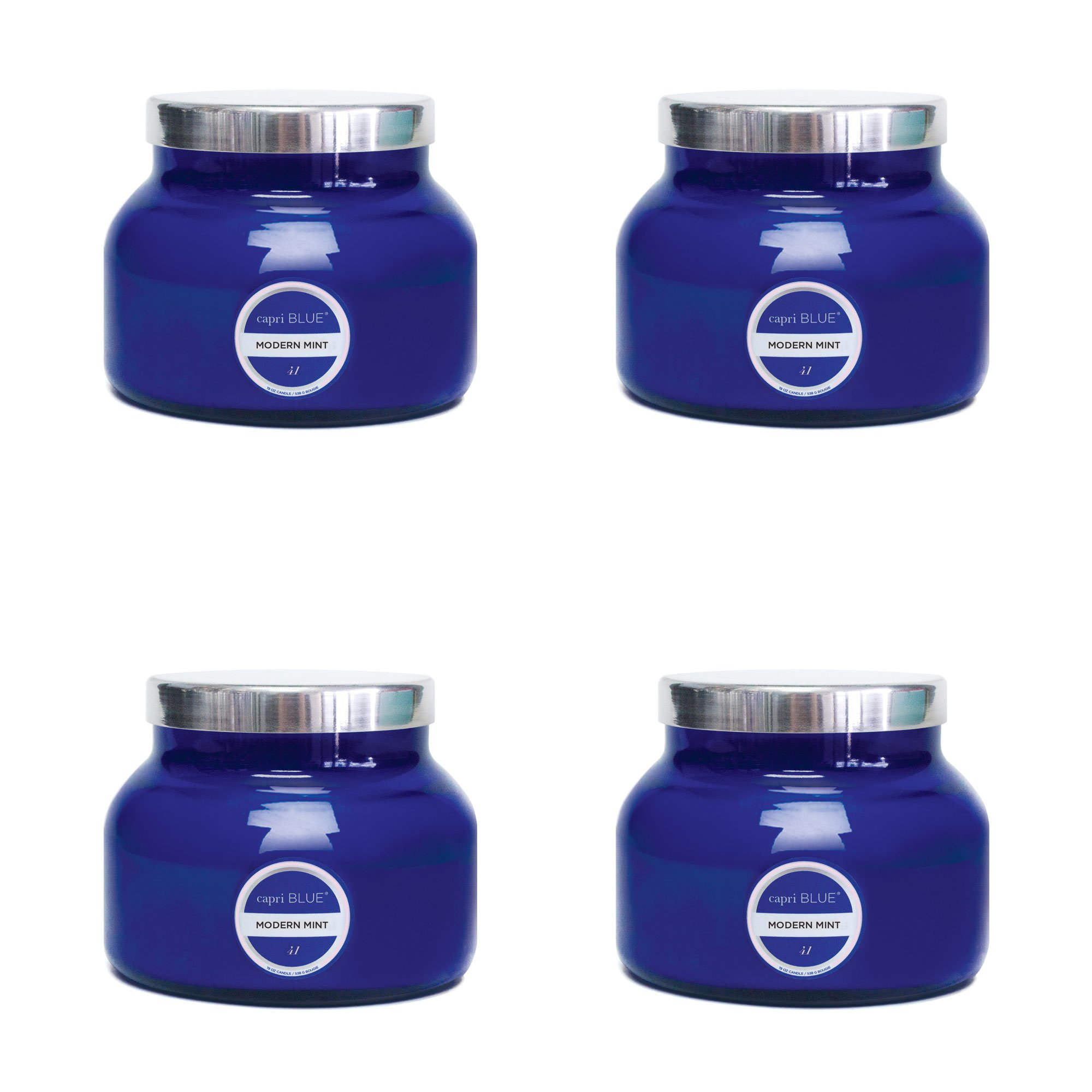 Capri Blue 19 oz Signiture Jar Modern Mint (4pk), Assorted, One Size by Capri Blue