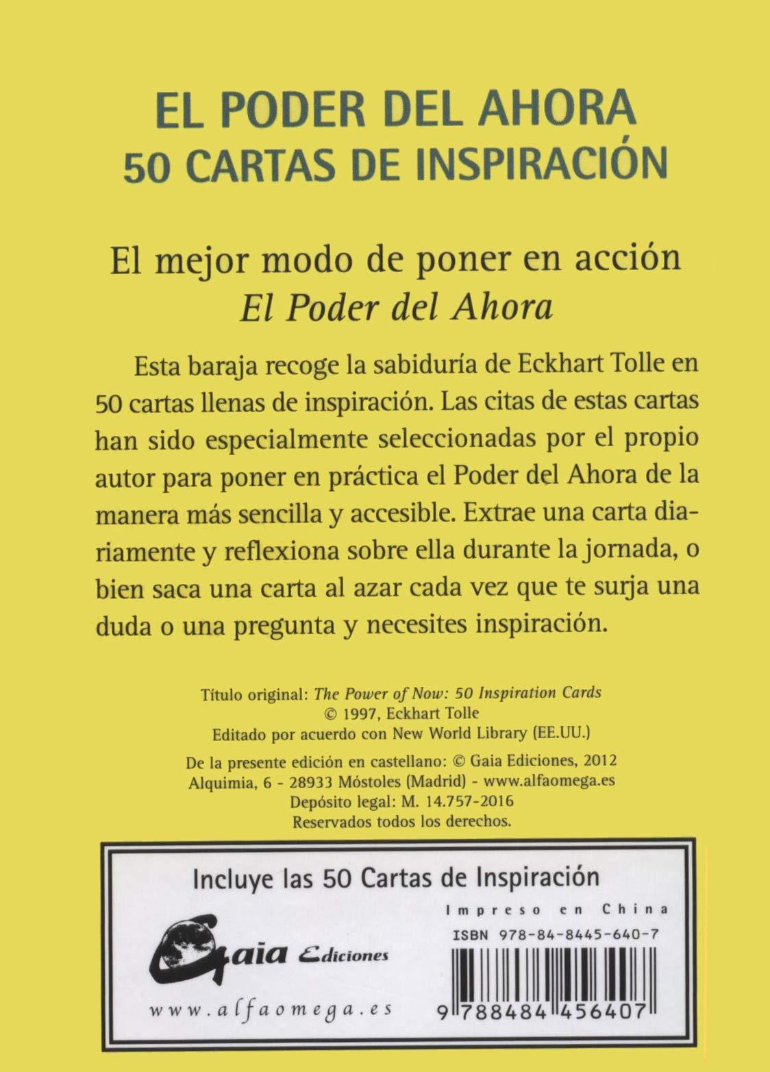 El poder del ahora. 50 cartas de inspiración Tarot, oráculos ...