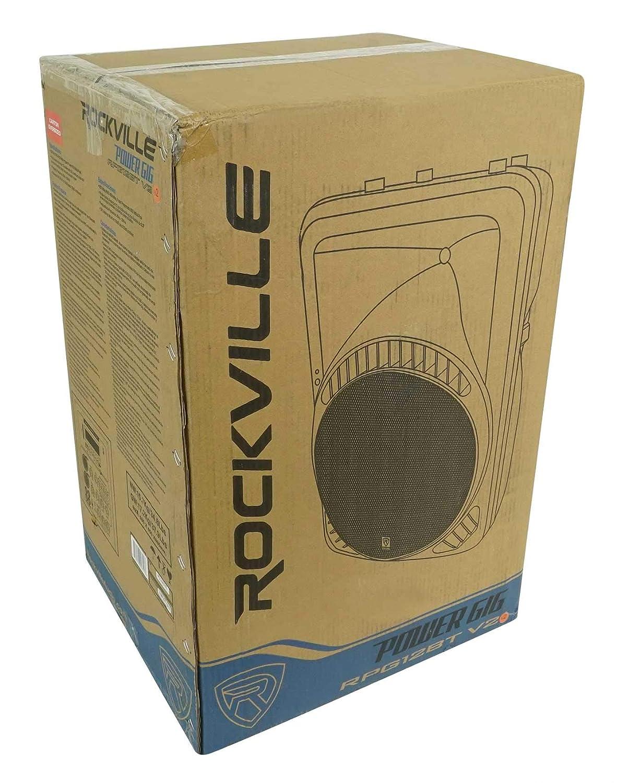 Rockville RPG12BT V2 12 Powered 800W DJ PA Speaker Bluetooth//Wireless//Remote//EQ