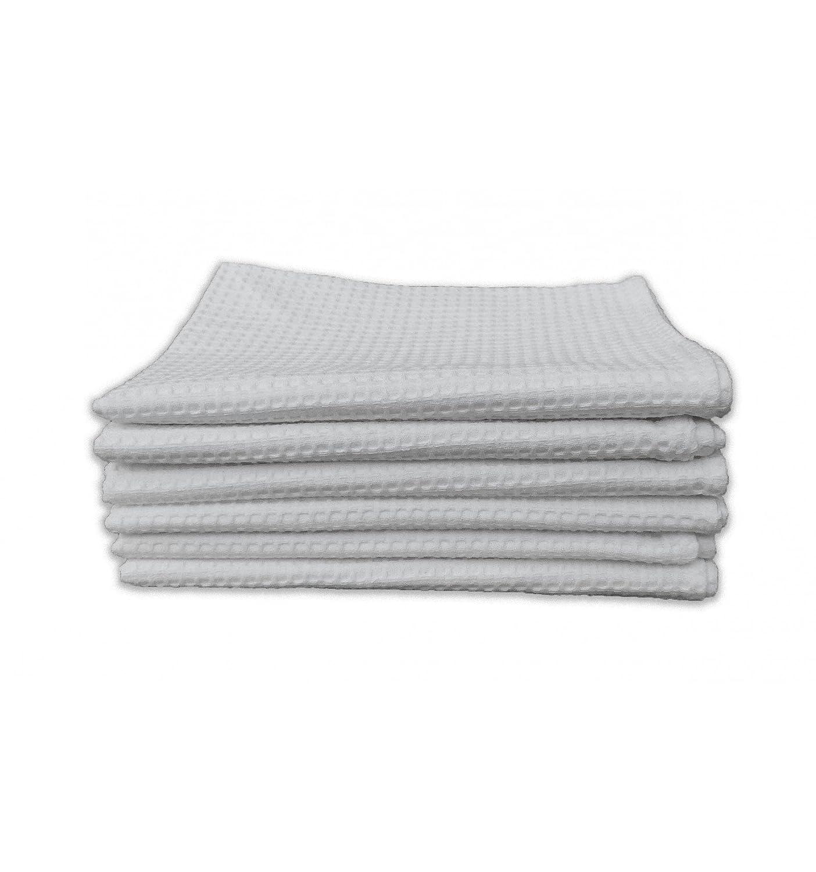 tex family Lot 6/serviettes dinvit/é Coton Uni Blanc Nid dabeille Fourniture h/ôteli/ère cm.40/x 60