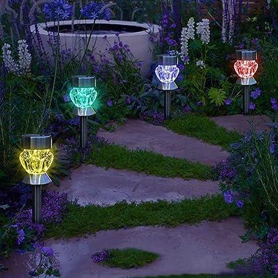 La Cabina 4pcs LED Lumière de l\'Éclairage Jardin Lumière Extérieur ...