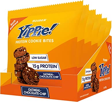 Weider Yippie Bites Galletitas Con Proteína De Suero De Leche Y Trocitos De Chocolate, Sabor Oatmeal-Chocolate 50 G 30 g