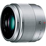 Panasonic Micro Four Thirds 25mm for system F1.7 Single-focus standard lens LUMIX G ASPH. Silver H-H025-S - International Version (No Warranty)