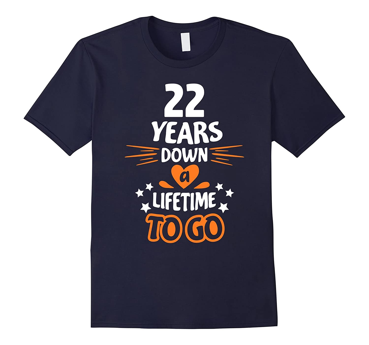 22nd Wedding Anniversary Gift Ideas: 22nd Wedding Anniversary Gift For Parents 22 Years T-Shirt
