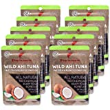 Itsumo Foods Wild Ahi Tuna Packets - Ready to Eat Sashimi Grade Ahi Tuna in Coconut Oil, Gluten Free and Perfect for Keto and
