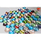 ATS Decorative Glass Pebbles (Pack Contains 50 Pebbles) Colorful Vase Fillers For Home Decoration