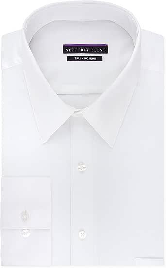 Geoffrey Beene Men's TALL FIT Dress Shirts Sateen Solid (Big and Tall)