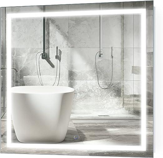 Amazon Com Krugg Led Bathroom Mirror 36 Inch X 36 Inch Lighted
