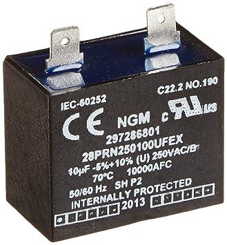 Frigidaire 297286801 congelador Run Capacitor: Amazon.es ...