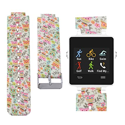 Allbingo Watchband for Garmin Vivoactive - Comfortable and Cute - Garmin Vivoactive Silicone Replacement Band with Different Colors and Patterns - ...