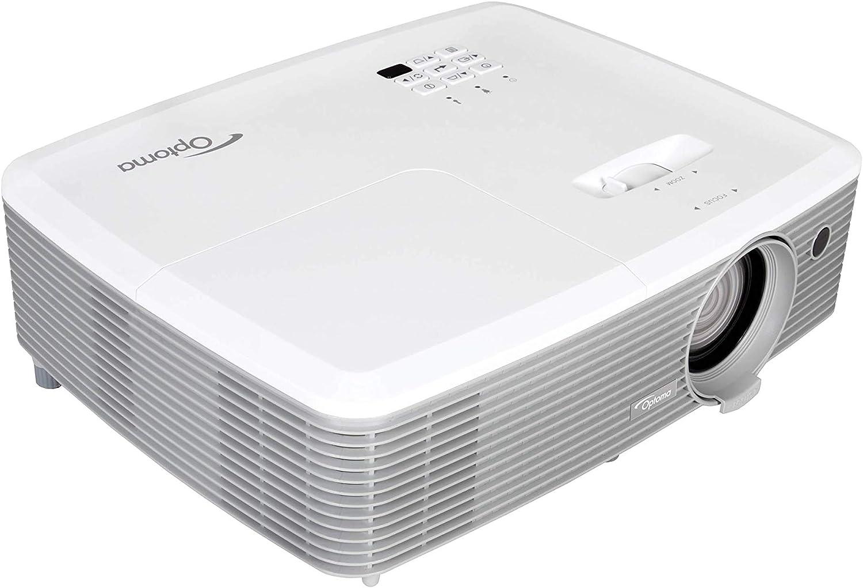 Optoma Eh400 Dlp Projektor 1080p 4000 Lumen 22 000 1 Kontrast 2x Hdmi Mhl 2x Vga 1x Composite Weiß Heimkino Tv Video