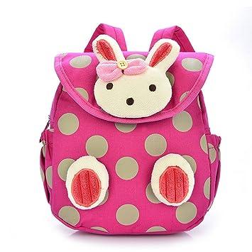 Frbelle Mochila Guardería Pre-escolar Mochila Infantil Diseño Conejo para Niños 1-3 Años Fuscia: Amazon.es: Equipaje