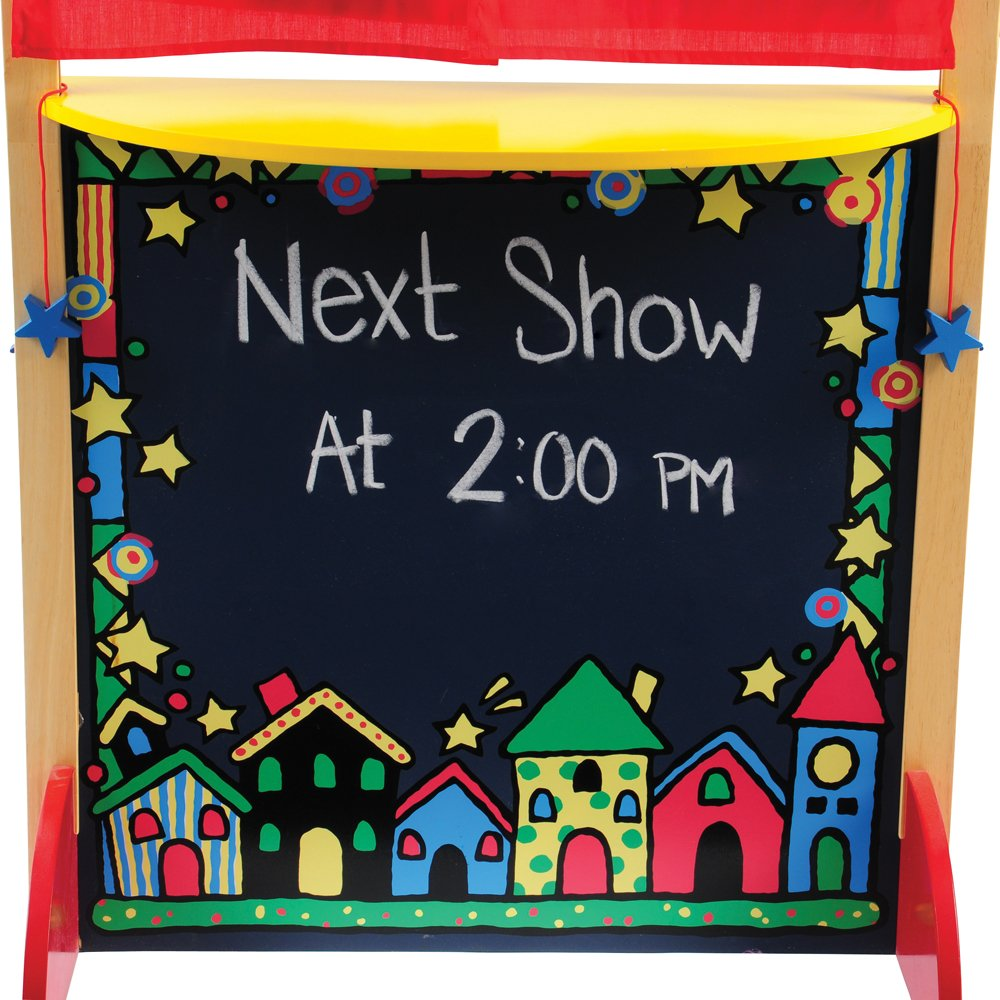 CP Toys Kid-sized Hardwood Puppet Theater with Chalkboard by Constructive Playthings (Image #4)