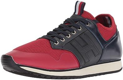 Tommy Hilfiger Mens MONTEZ Shoe, red/navy, 7 Medium US