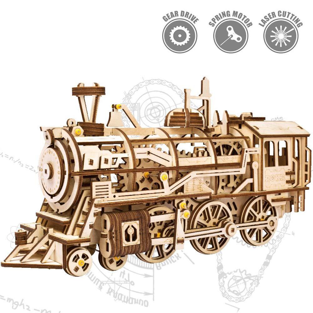 ROKR 木製パズル 動くキット ギア付き B07P3H7FPM 機械式モデル組み立てキット モデル組み立て 動くキット エンジニアリングおもちゃ ROKR 大人用 ZRUSROKR-LK701 Vintage Locomotive B07P3H7FPM, トネムラ:9943f345 --- m2cweb.com