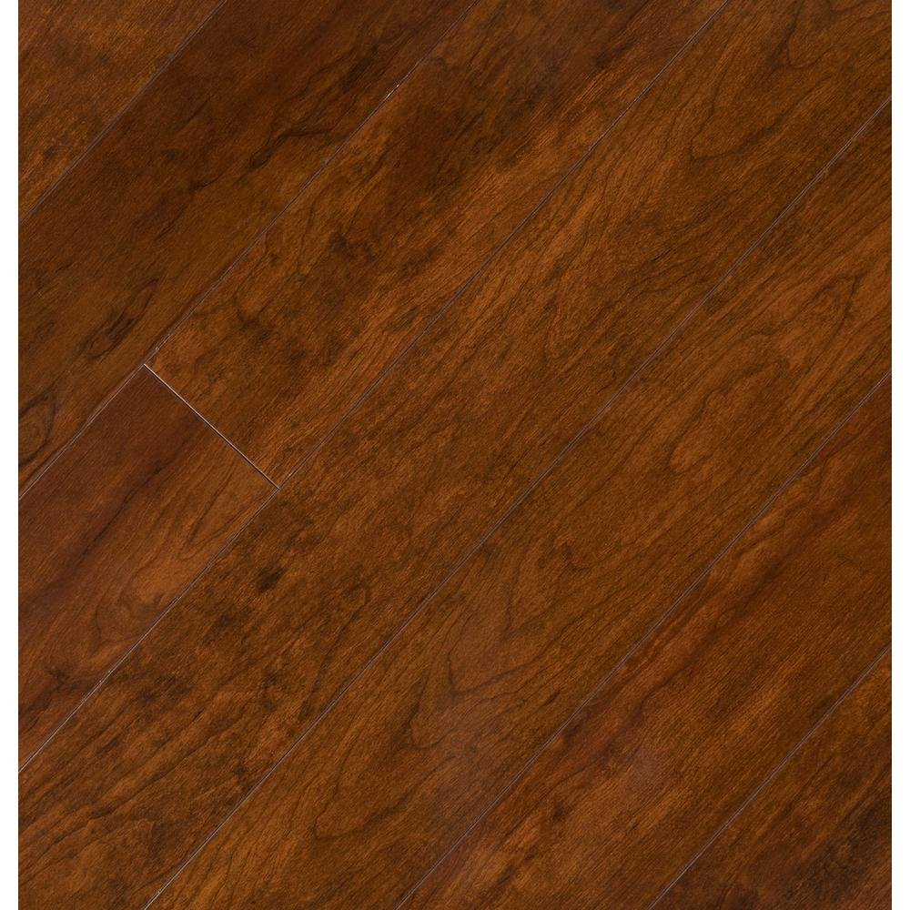 Hampton Bay High Gloss Keller Cherry 8 mm Thick x 47-3/4 in. Length x 5 in. Wide Laminate Flooring (13.26 sq. ft./case)
